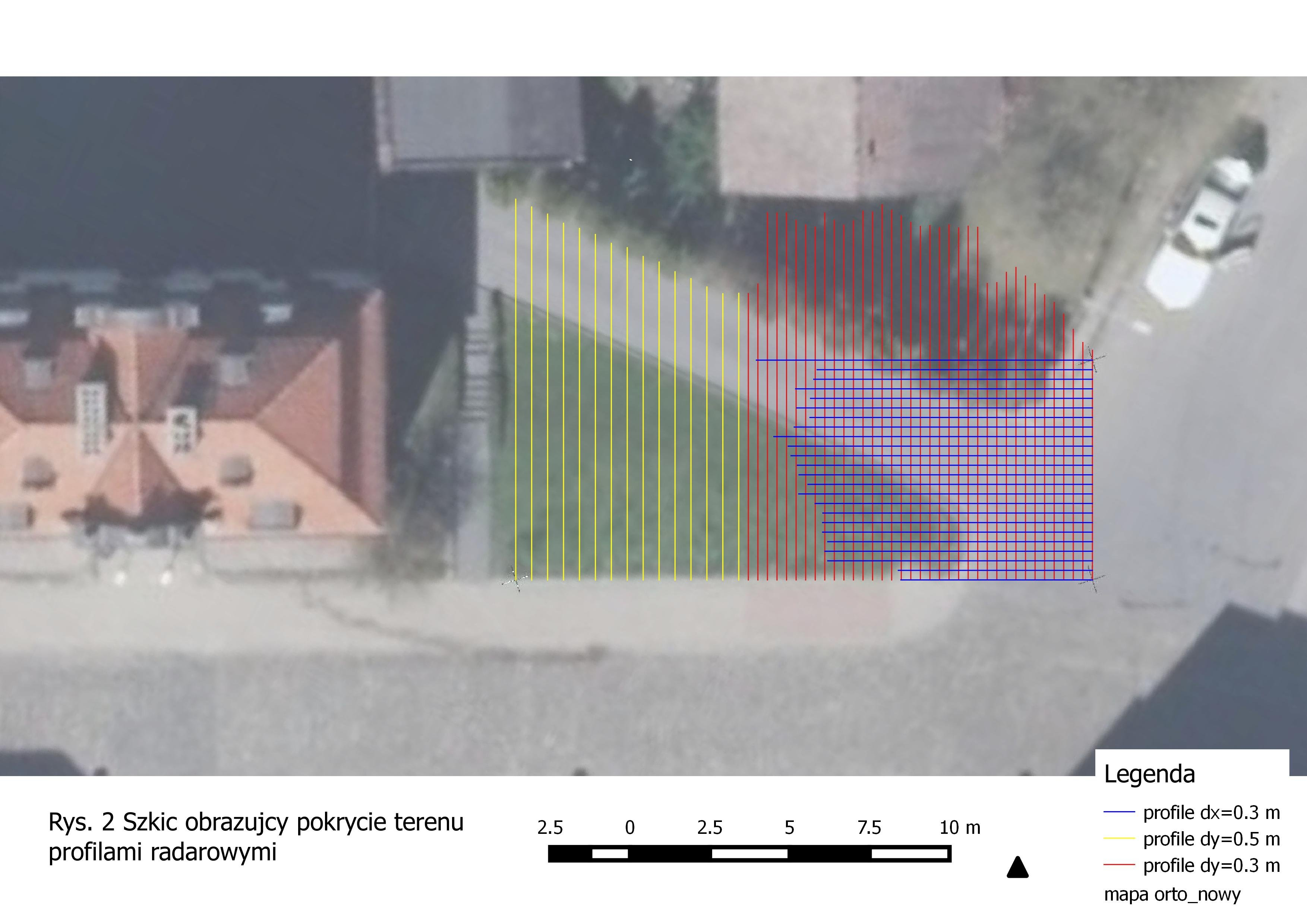 Mapowanie muru i fundamentu